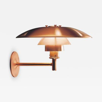 Poul Henningsen Large Poul Henningsen PH Wall Outdoor Sconce for Louis Poulsen in Raw Copper
