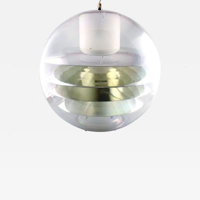 Poul Henningsen Large ceiling lamp in Plexiglas with four lamellae inside