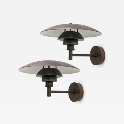 Poul Henningsen Outdoor Copper Wall Lights PH 4 3 by Poul Henningsen