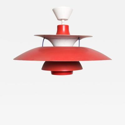 Poul Henningsen PH5 RED Pendant Light Lamp Louis Poulsen Mid Century Modern
