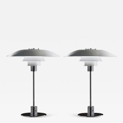 Poul Henningsen Pair of Poul Henningsen PH4 3 Table Lamps Manufactured by Louis Poulsen