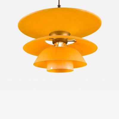 Poul Henningsen Poul Henningsen 4 Shade Amber Glass PH Pendant for Louis Poulsen