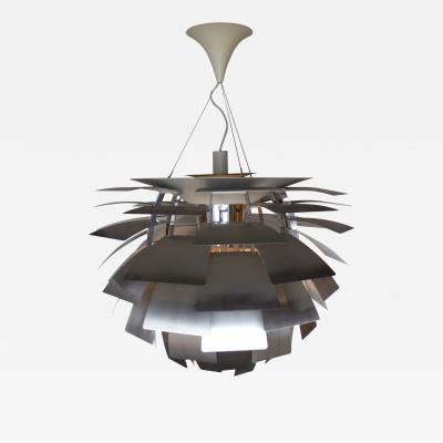 Poul Henningsen Poul Henningsen Artichoke Chandelier in Brushed Steel for Louis Poulsen XL Size