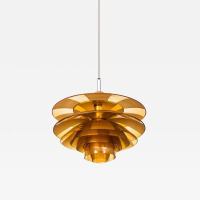 Poul Henningsen Poul Henningsen Ceiling Lamp Model PH Septima 5 by Louis Poulsen in Denmark