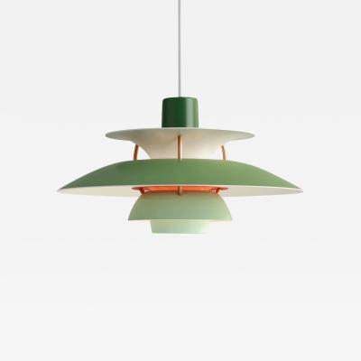 Poul Henningsen Poul Henningsen Green PH5 Mini Pendants for Louis Poulsen