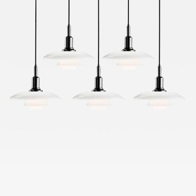 Poul Henningsen Poul Henningsen PH 3 2 Glass Pendants for Louis Poulsen