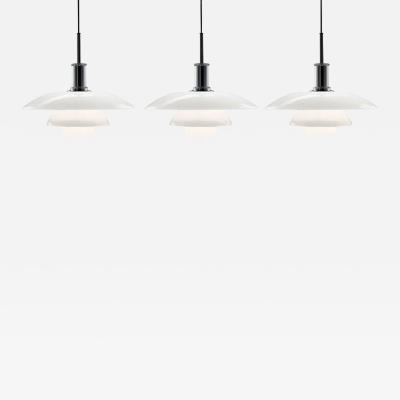 Poul Henningsen Poul Henningsen PH 4 4 Glass Pendants for Louis Poulsen