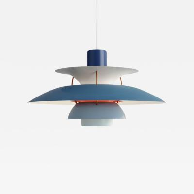 Poul Henningsen Poul Henningsen PH 5 Pendant for Louis Poulsen in Blue