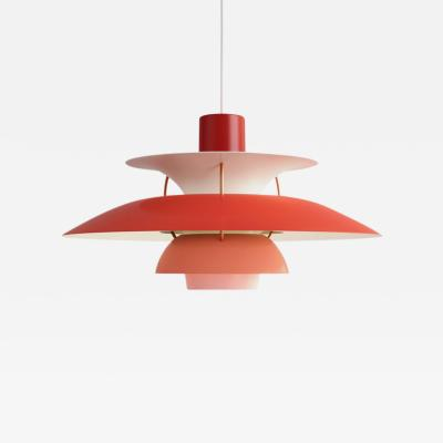 Poul Henningsen Poul Henningsen PH 5 Pendant for Louis Poulsen in Red