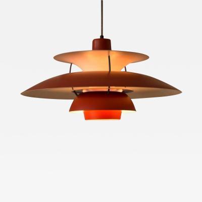 Poul Henningsen Poul Henningsen PH5 Lamp in Red for Louis Poulsen Denmark 1958