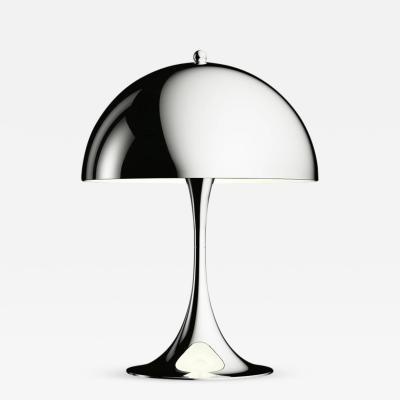 Poul Henningsen Verner Panton Panthella Mini Table Lamp in Chrome for Louis Poulsen