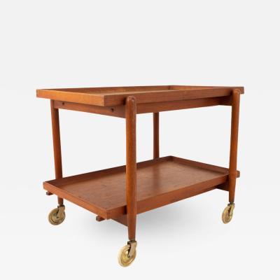 Poul Hundevad Poul Hundevad Mid Century Danish Teak Dining Bar Cart