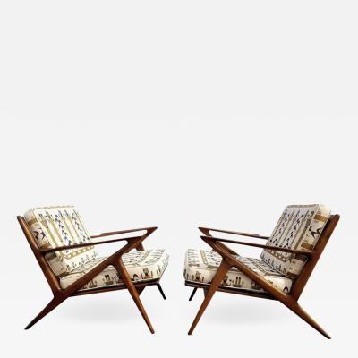 Poul Jensen Iconic Z Lounge Chairs by Poul Jensen for Selig