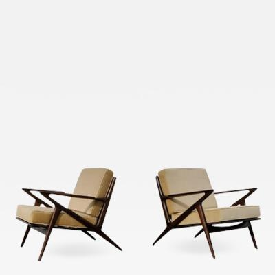 Poul Jensen Pair of Poul Jensen Z Lounge Chairs for Selig Denmark