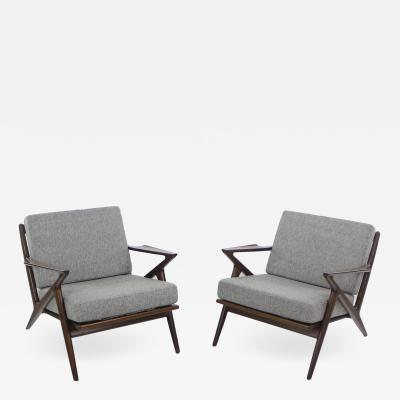 Poul Jensen Pair of Scandinavian Modern Z Armchairs Designed by Poul Jensen
