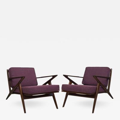 Poul Jensen Pair of Z Lounge Chairs by Poul Jensen for Selig
