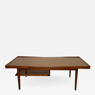 Poul Jensen Poul Jensen Selig Coffee Table Teak and Cane Denmark 1950s