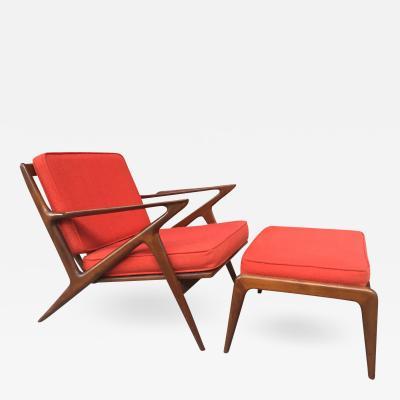 Poul Jensen Poul Jensen Z Lounge Chair Ottoman for Selig