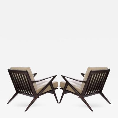 Poul Jensen Poul Jensen for Selig Z Lounge Chairs Denmark