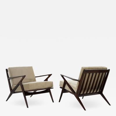 Poul Jensen Poul Jensen for Selig Z Lounge Chairs Denmark c 1950s