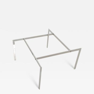 Poul Kj rholm 1970s Style of Poul Kjaerholm PK61 Modern Chrome Coffee Table Angled Base