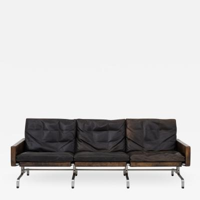 Poul Kj rholm 3 seater sofa in black