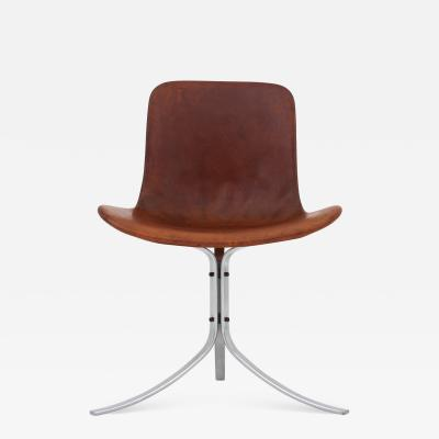 Poul Kj rholm Chair in cognac leather