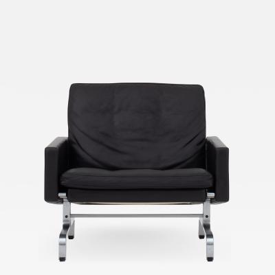 Poul Kj rholm Easy chair in black leather