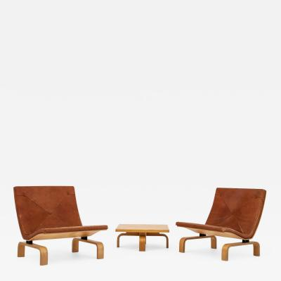 Poul Kj rholm Easy chairs and coffee table set