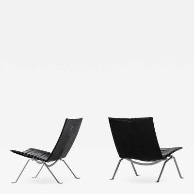 Poul Kj rholm Kjaerholm Easy Chairs Model PK 22 Produced by E Kold Christensen in Denmark