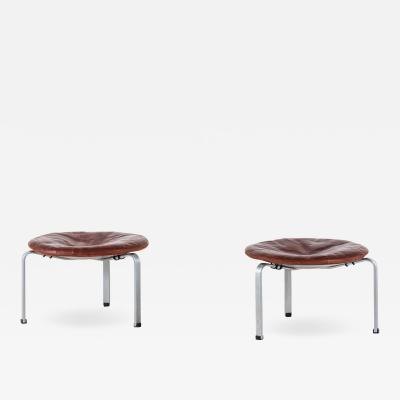 Poul Kj rholm Kjaerholm Stools Model PK 33 Produced by E Kold Christensen in Denmark