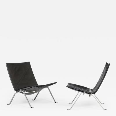 Poul Kj rholm PK 22 Pair of lounge chair
