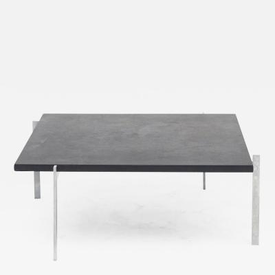 Poul Kjaerholm Kj rholm POUL KJ RHOLM PK61 COFFEE TABLE WITH BLACK SLATE TOP