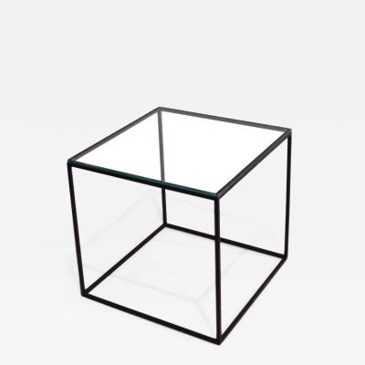 Poul Kjaerholm Kj rholm POUL KJAERHOLM GLASS AND STEEL CUBE TABLE