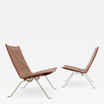 Poul Kjaerholm Kj rholm Pair Of PK22 Chairs By Poul Kjaerholm For E Kold Christensen