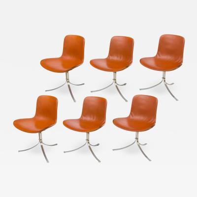 Poul Kjaerholm Kj rholm Poul Kjaerholdm PK 9 Side Chairs for E Kold Christensen Denmark 1961