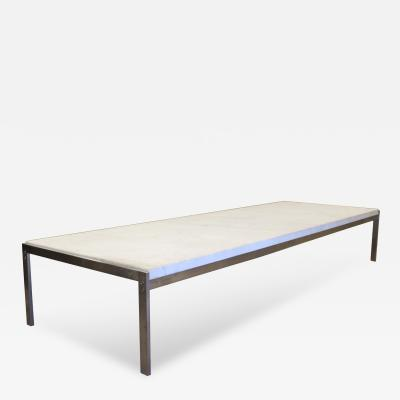 Poul Kjaerholm Large PK 62 Marble and Brushed Steel Coffee or Side Table by Poul Kjaerholm