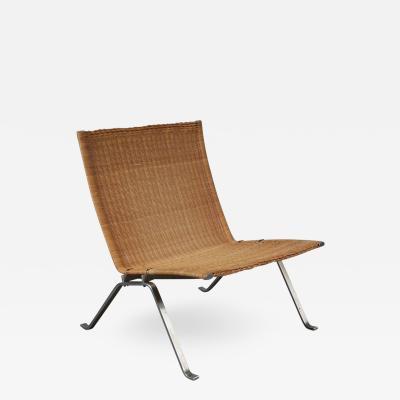 Poul Kjaerholm PK22 Lounge Chair by Poul Kjaerholm for Fritz Hansen Denmark 1960