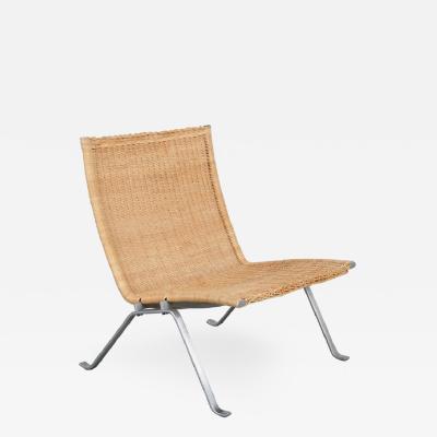 Poul Kjaerholm PK22 Lounge Chair by Poul Kjaerholm for Kold Christensen Denmark 1960