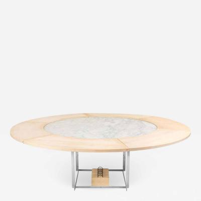 Poul Kjaerholm Poul Kjaerholm PK 54 Marble Dining Table with Maple Extensions for Fritz Hansen
