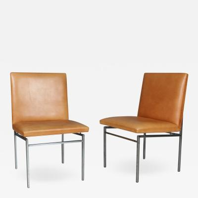 Poul N rreklit Poul N rreklit Pair of chairs steel and leather 1960s 2