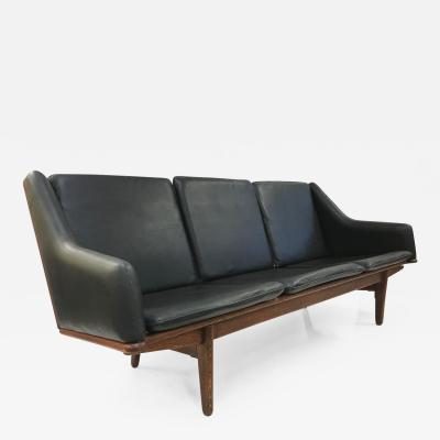 Poul Volther Danish Leather Sofa by Poul Volther