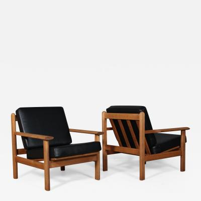 Poul Volther Poul M Volther Pair of oak armchairs 2