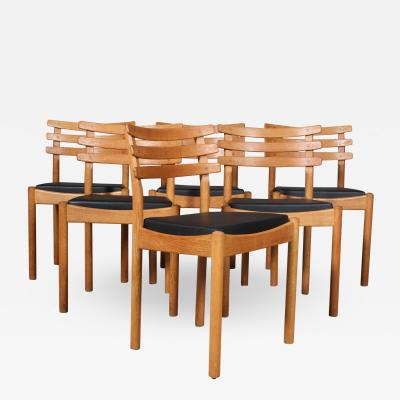 Poul Volther Poul M Volther attributed Six dining chairs oak FDB 6
