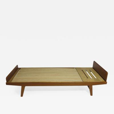 Poul Volther Solid Teak Daybed Sofa with Adjustable Headrest Pair Available