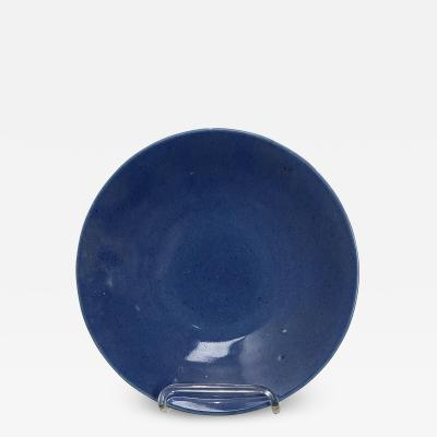 Powder Blue Plate China Circa 1850