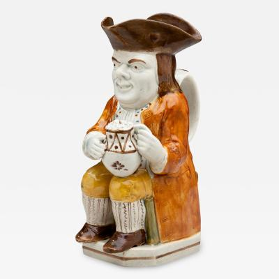 Prattware Long Face Toby Jug
