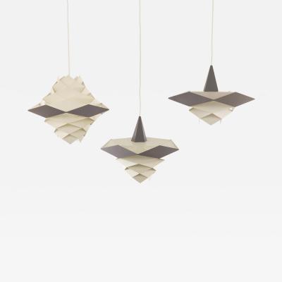 Preben Dal Set of Symfoni pendants by Preben Dahl for Hans F lsgaard 1960s