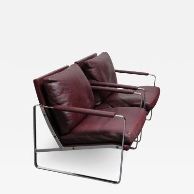 Preben Fabricius Pair of Preben Fabricius for Walter Knoll Cordovan Leather Lounge Chairs