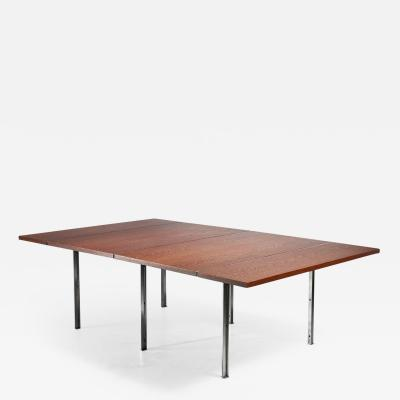 Preben Fabricius Rare Wenge and Stainless Steel Table by Preben Fabricius 1970s